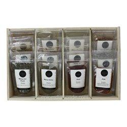 Coffret 12 mélanges d'épices pour Barbecue + kit