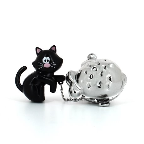 Boule à thé chat perché