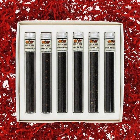 6 Poivres noirs en tube - Coffret n°3