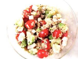 Taboulé de quinoa printanier aux graines de nigelle