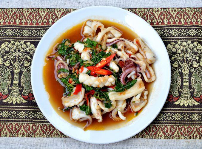 Recette calamar au piment et épices thai - épices du monde