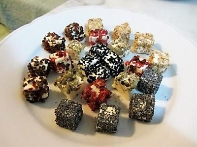 recette «Apéro-cubes de fromage aux graines et épices - épices du monde