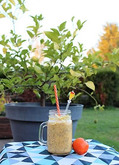 recette smoothie graines de chia citron en poudre et mandarine - épices du monde