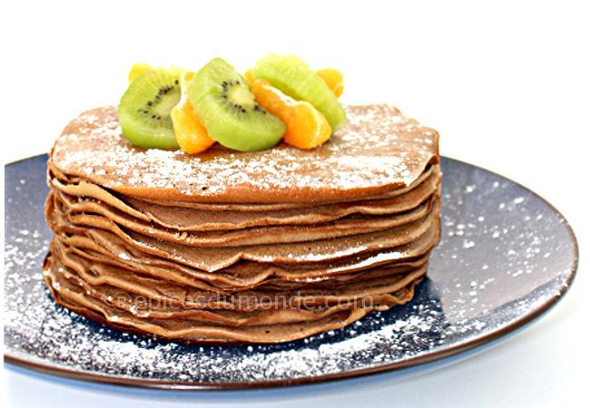 recette pancakes chocolat à la cannelle - chandeleur - copyright épices du monde