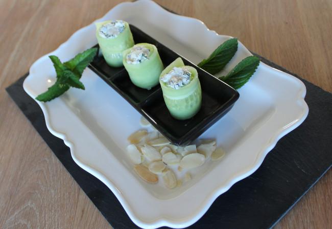 makis de concombre au chèvre - epices du monde