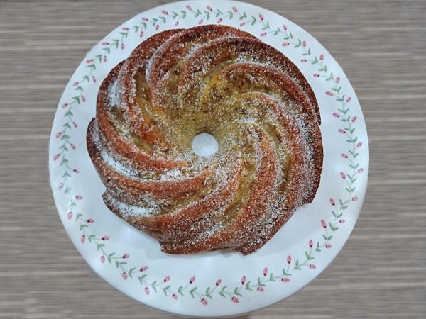 bundt cake cannelle et pommes caramélisées