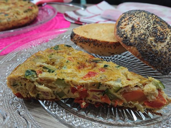 tortilla aux petits légumes